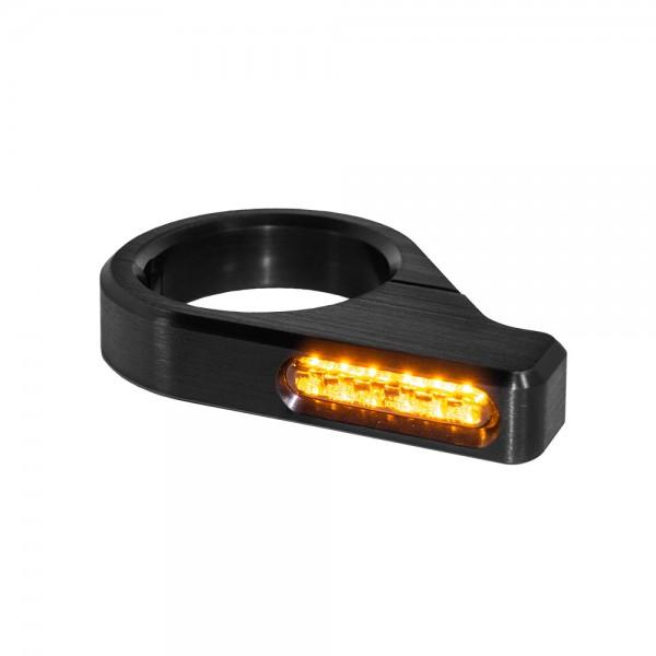 LED GABELBLINKER CLASSIC / ALUMINUM / BLACK
