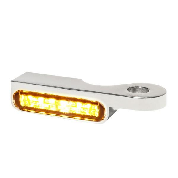 LED BLINKER VORNE ALUMINUM-CHROM