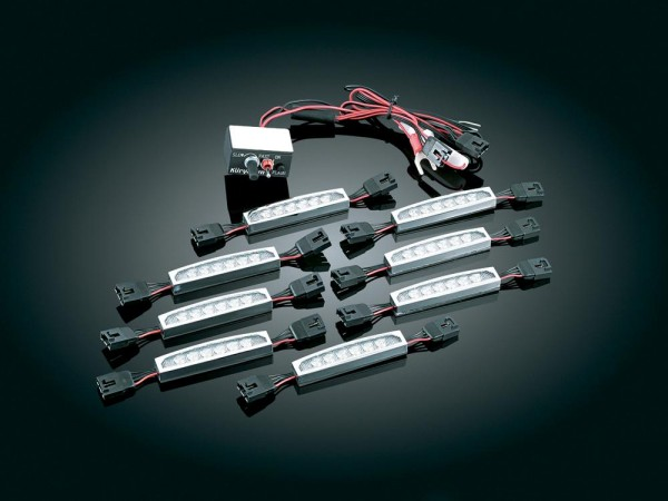 SUPER LIZARD® MAXIMUS LED KIT, 8 LICHTER, CHROME