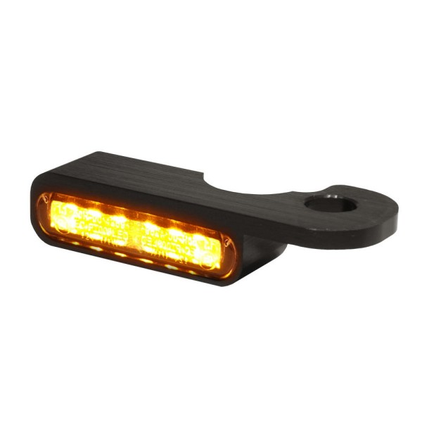 LED BLINKER VORNE ALUMINUM-BLACK