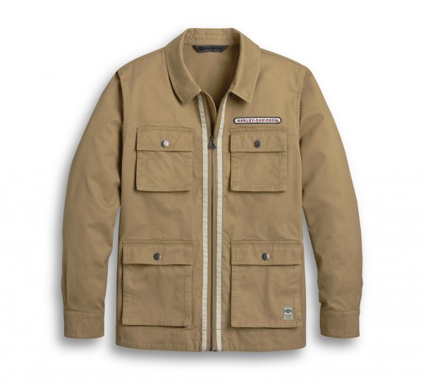 JACKET WOVEN - BROWN