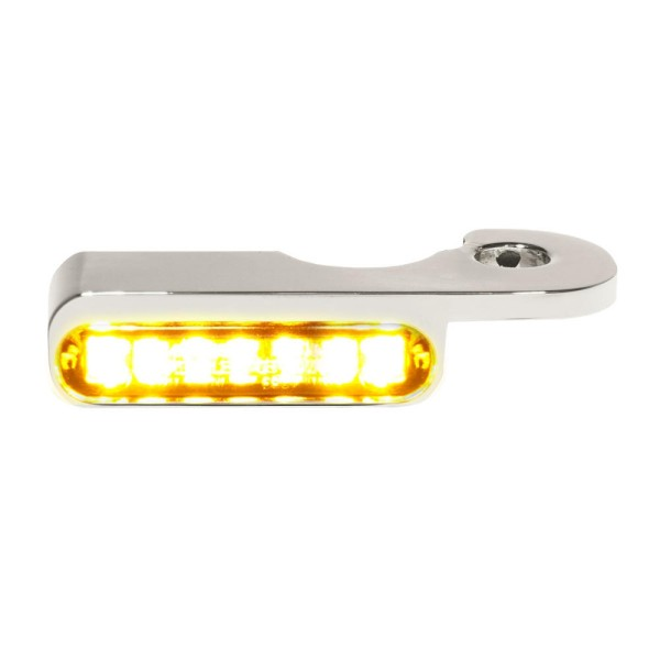 LED BLINKER VORNE ALUMINUM-CHROM