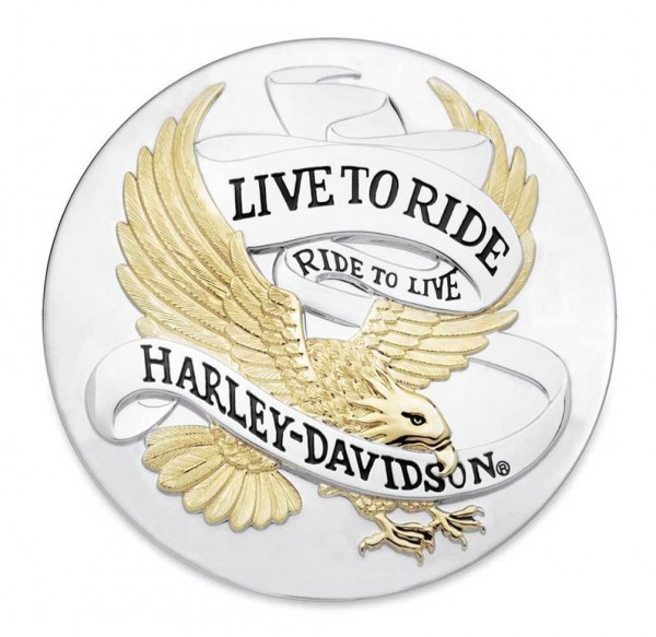 """LIVE TO RIDE"" LOGO MEDAILLON"